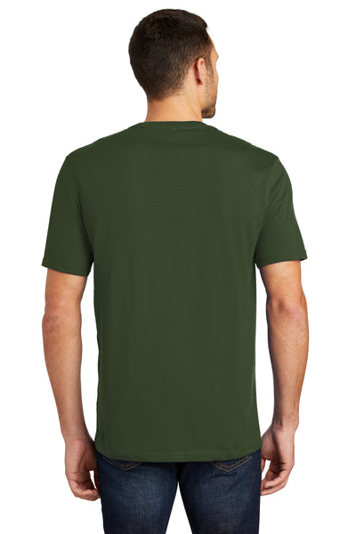 District DT104 Mens Perfect Weight Short Sleeve Crewneck T-Shirt Thyme Green Back