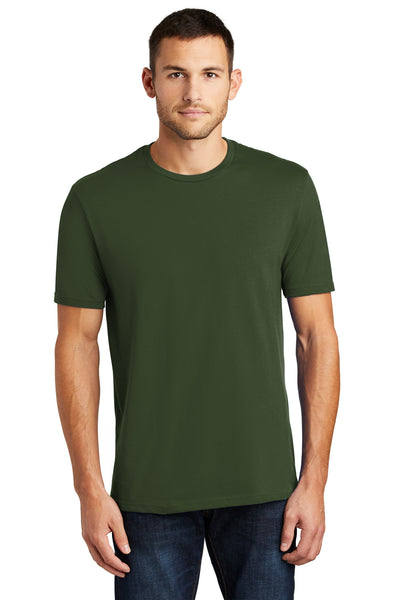 District DT104 Mens Perfect Weight Short Sleeve Crewneck T-Shirt Thyme Green Front