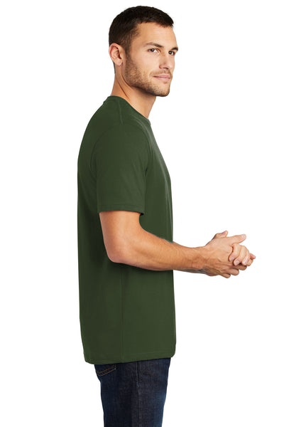 District DT104 Mens Perfect Weight Short Sleeve Crewneck T-Shirt Thyme Green Side
