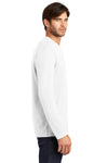 District DT105 Mens Perfect Weight Long Sleeve Crewneck T-Shirt White Side