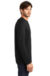 District DT105 Mens Perfect Weight Long Sleeve Crewneck T-Shirt Black Side