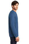 District DT105 Mens Perfect Weight Long Sleeve Crewneck T-Shirt Maritime Blue Side