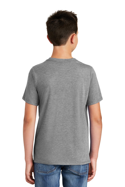 District DT130Y Youth Perfect Tri Short Sleeve Crewneck T-Shirt Grey Frost Back