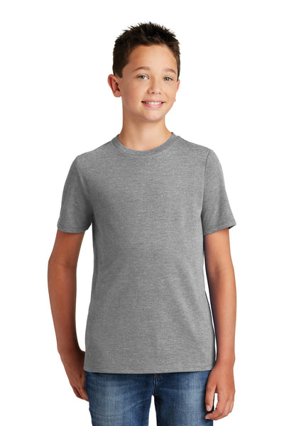 District DT130Y Youth Perfect Tri Short Sleeve Crewneck T-Shirt Grey Frost Front