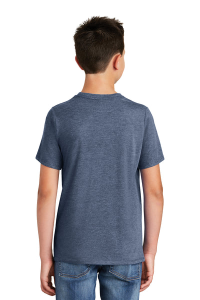 District DT130Y Youth Perfect Tri Short Sleeve Crewneck T-Shirt Navy Blue Frost Back