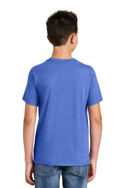District DT130Y Youth Perfect Tri Short Sleeve Crewneck T-Shirt Royal Blue Frost Back
