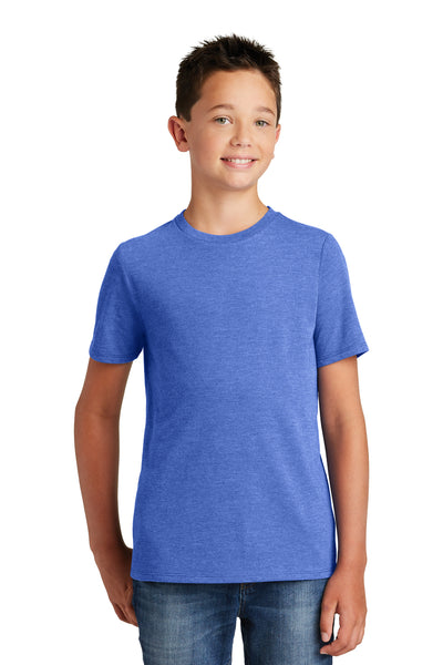 District DT130Y Youth Perfect Tri Short Sleeve Crewneck T-Shirt Royal Blue Frost Front