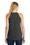 District DT137L Womens Perfect Tri Rocker Tank Top Black Frost Back