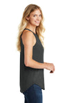 District DT137L Womens Perfect Tri Rocker Tank Top Black Frost Side