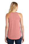 District DT137L Womens Perfect Tri Rocker Tank Top Blush Pink Frost Back