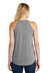 District DT137L Womens Perfect Tri Rocker Tank Top Grey Frost Back