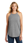 District DT137L Womens Perfect Tri Rocker Tank Top Grey Frost Front