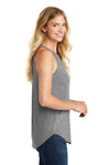 District DT137L Womens Perfect Tri Rocker Tank Top Grey Frost Side