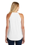 District DT137L Womens Perfect Tri Rocker Tank Top White Back