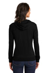 District DT2100 Womens Full Zip Hooded Sweatshirt Hoodie Black Back