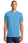 District DT5000 Mens The Concert Short Sleeve Crewneck T-Shirt Aqua Blue Front