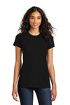 District DT5001 Womens The Concert Short Sleeve Crewneck T-Shirt Black Front