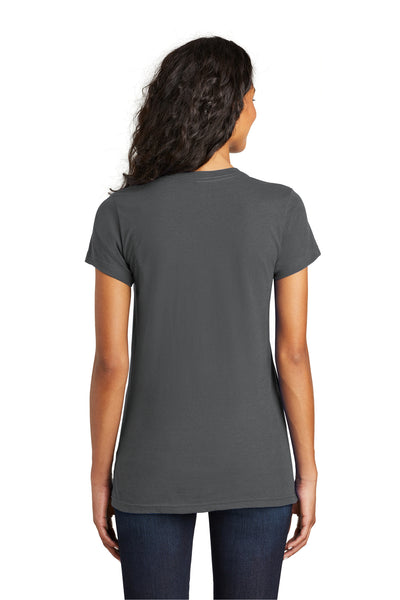 District DT5001 Womens The Concert Short Sleeve Crewneck T-Shirt Charcoal Grey Back