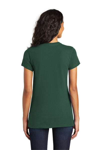 District DT5001 Womens The Concert Short Sleeve Crewneck T-Shirt Forest Green Back