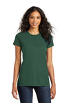District DT5001 Womens The Concert Short Sleeve Crewneck T-Shirt Forest Green Front