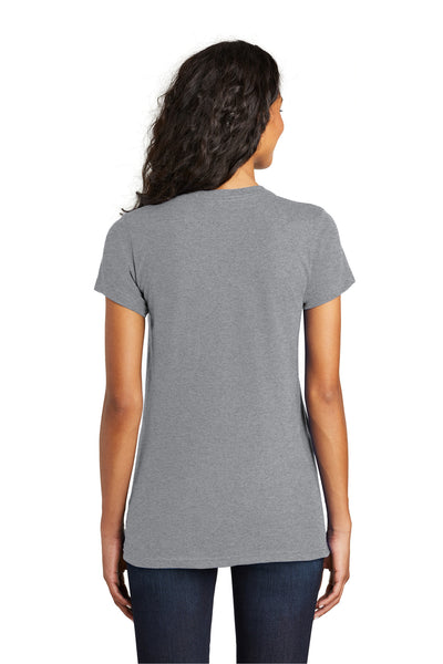 District DT5001 Womens The Concert Short Sleeve Crewneck T-Shirt Heather Grey Back