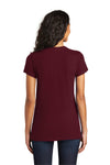 District DT5001 Womens The Concert Short Sleeve Crewneck T-Shirt Maroon Back