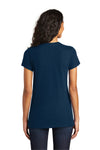 District DT5001 Womens The Concert Short Sleeve Crewneck T-Shirt Navy Blue Back