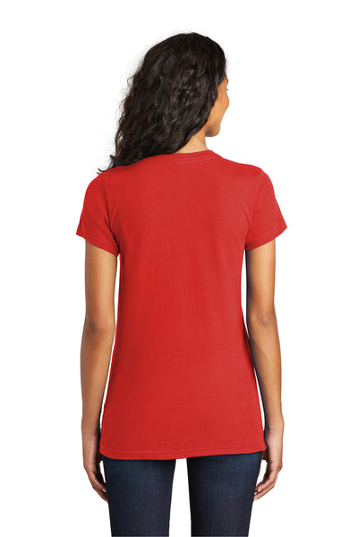 District DT5001 Womens The Concert Short Sleeve Crewneck T-Shirt Red Back