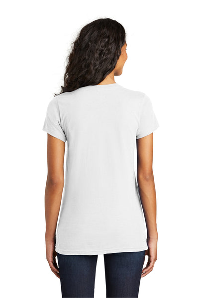 District DT5001 Womens The Concert Short Sleeve Crewneck T-Shirt White Back