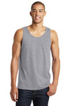 District DT5300 Mens The Concert Tank Top Heather Grey Front
