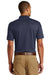 Eddie Bauer EB102 Mens UPF 30+ Performance Short Sleeve Polo Shirt Navy Blue Back