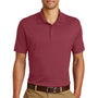 Eddie Bauer Mens UPF 30+ Performance Short Sleeve Polo Shirt - Red Rhubarb