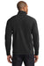 Eddie Bauer EB224 Mens Full Zip Microfleece Jacket Black Back