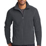 Eddie Bauer Mens Steel Grey Full Zip Microfleece Jacket