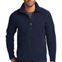 Eddie Bauer Mens Navy Blue Full Zip Microfleece Jacket