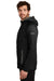 Eddie Bauer EB244 Mens Sport Full Zip Fleece Hooded Jacket Black Side