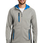 Eddie Bauer Mens Sport Full Zip Fleece Hooded Jacket - Cloud Grey
