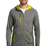 Eddie Bauer Mens Sport Full Zip Fleece Hooded Jacket - Metal Grey