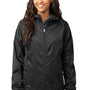 Eddie Bauer Womens Black Packable Wind Resistant Full Zip Hooded Wind Jacket