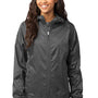 Eddie Bauer Womens Steel Grey Packable Wind Resistant Full Zip Hooded Wind Jacket