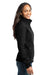 Eddie Bauer EB531 Womens Water Resistant Full Zip Jacket Black Side