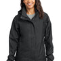 Eddie Bauer Womens Waterproof Full Zip Hooded Jacket - Black
