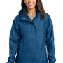 Eddie Bauer Womens Waterproof Full Zip Hooded Jacket - Deep Sea Blue