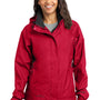 Eddie Bauer Womens Waterproof Full Zip Hooded Jacket - Red