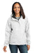 Eddie Bauer EB551 Womens Waterproof Full Zip Hooded Jacket White Front