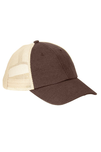 Econscious EC7095 Mens Adjustable Trucker Hat Earth Brown/Oyster Front