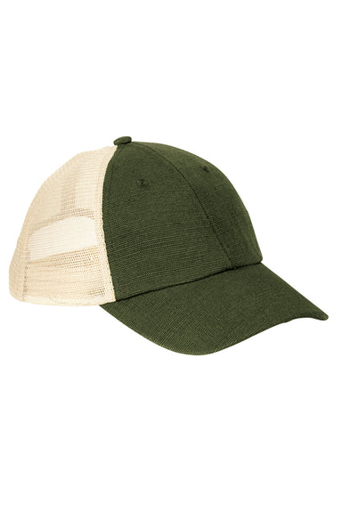 Econscious EC7095 Mens Adjustable Trucker Hat Olive Green/Oyster Front