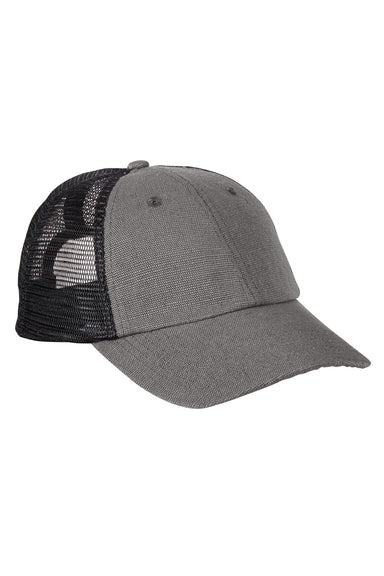Econscious EC7095 Mens Adjustable Trucker Hat Charcoal Grey/Black Front