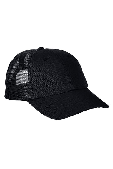 Econscious EC7095 Mens Adjustable Trucker Hat Black Front