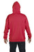 Hanes F170 Mens Ultimate Cotton PrintPro XP Hooded Sweatshirt Hoodie Red Back